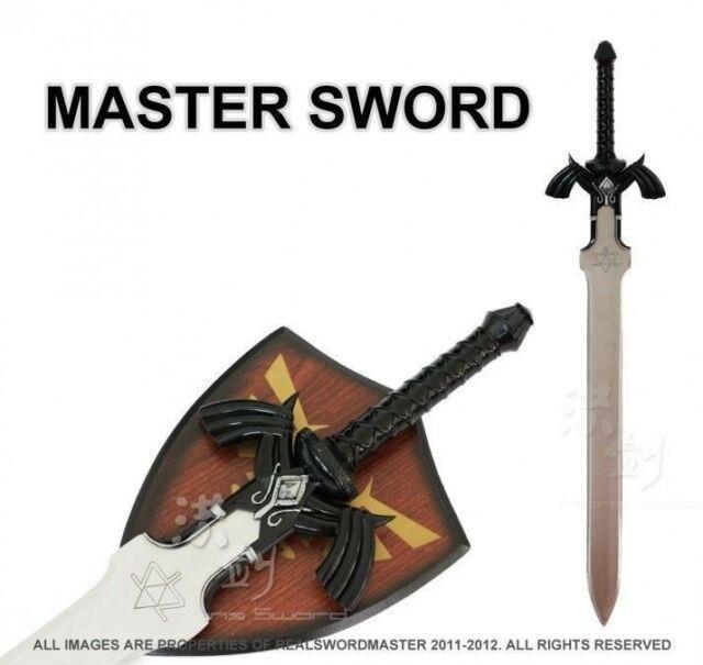 11 Full Size Dark Link's Master Sword From The Legend Of Zelda With Plaque New