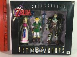 1998 Legend of Zelda Ocarina of Time Nintendo 3-pack Zelda Link Ganondorf