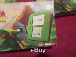 AUTHENTIC Nintendo 2DS CONSOLE Link Edition The Legend of Zelda Ocarina Time 3D