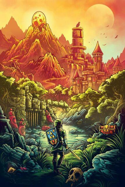 Bottleneck Artist Mumford Legend Of Zelda Link's Awakening Poster 1988 Mondo