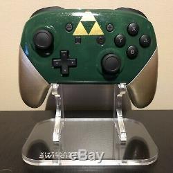 Custom Nintendo Switch Pro Controller Green / Gold Legend of Zelda Link