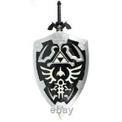 Dark Link Hylian Legend of Zelda Shield and Black Master Sword Gift Combo Set