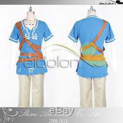EE0079AH The Legend of Zelda Breath of the Wild Link WiiU Cosplay Costume