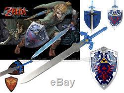 FULL SIZE Legend of Zelda Link's Hylian Shield + Link's Master Sword Combo Set