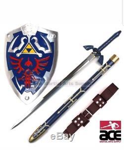 FULL SIZE Legend of Zelda Link's Hylian Shield Steel Master Sword Cosplay Combo
