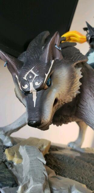 First 4 Figures Legend Of Zelda Twilight Princess Wolf Link And Midna Statue