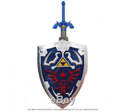 Full SIze Link's Hylian Shield & Master Sword from the Legend of Zelda Combo New
