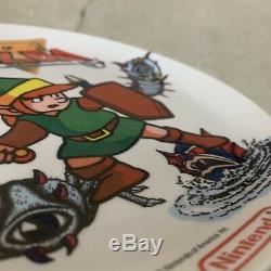 Htf Rare 1989 Legend Of Zelda Plastic Plate 8 Nintendo Link