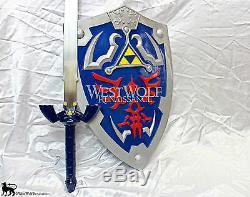 IMPERFECT Legend of Zelda Link's Steel Hylian Knight Master Sword + Scabbard