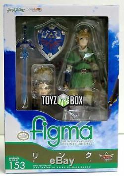 In STOCK Good Smile Figma Link Legend of Zelda Skyward Sword Action Figure 153