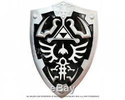 LARGE DARK Legend of Zelda Link's Hylian Shield + Link's Master Sword Combo Set