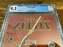 LEGEND OF ZELDA #1 Valiant Nintendo Comics 1990 CGC 1st appearance Link NM 9.2