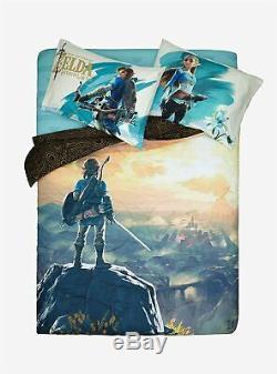 LEGEND OF ZELDA BREATH OF THE WILD 5pc Queen Size Bedding Comforter & Sheet Set