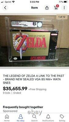 Legend Of Zelda Link To The Past SNES FACTORY SEALED WATA 8.5 B+ Not Vga