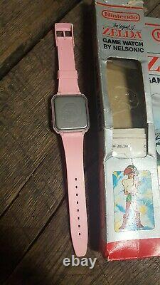Legend Of Zelda Nelsonic Game Watch, Nintendo 1989, Pink LCD Link in Box