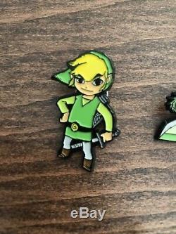 Legend Of Zelda Pin Set Of 7 Nintendo Club Wind Waker Link Ganon Tetra