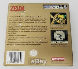 Legend Zelda Link Awakening DX GBC COMPLETE Box Manua CIB Game Boy Color GameBoy