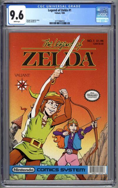 Legend Of Zelda #1 (valiant 1990) Cgc 9.6 Nm+ 1st Print $1.95 Nintendo Link