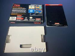 Legend of Zelda A Link To The Past Super Nintendo SNES Box Instruction Manual