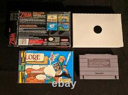 Legend of Zelda A Link To The Past with Poster SNES Super Nintendo No Manual