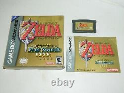 Legend of Zelda A Link to the Past Four Swords Game Boy Advance GBA COMPLETE