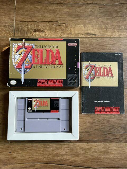 Legend Of Zelda A Link To The Past (super Nintendo, Snes) Complete In Box Cib