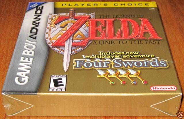 Legend Of Zelda A Link To The Past With Four Swords- Game Boy Advance- New