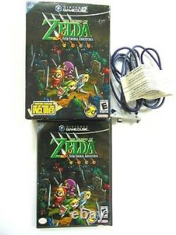 Legend of Zelda Four Swords Adventures Big Box with Link Cable Nintendo GameCube