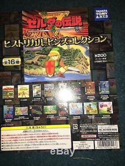 Legend of Zelda Historical Pin Set of 16 (2011) Japan Rare Badge Complete Link