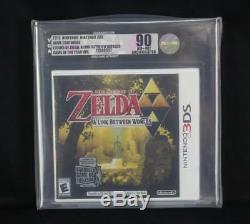 Legend of Zelda Link Between Worlds Nintendo 3DS VGA Gold 90 NM+/MT Uncirculated