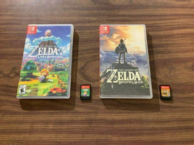 Legend Of Zelda Link's Awakening + Breath Of The Wild (nintendo Switch) Lot