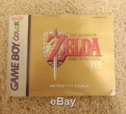 Legend of Zelda Link's Awakening DX Game Boy Color GBC CIB COMPLETE