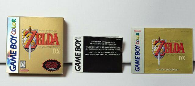 Legend Of Zelda Link's Awakening Dx (game Boy Color) No Game Box, Manual Only