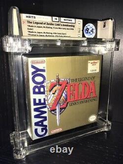 Legend of Zelda Link's Awakening (Gameboy) 1st Run WATA 9.4 SUPER RARE! MINT