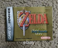 Legend of Zelda Link to the Past GBA Gameboy Advance Tested Complete in Box CIB
