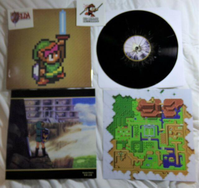 Legend Of Zelda Link To The Past Soundtrack Vinyl Lp Record Black Gold Variant