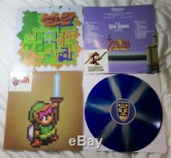 Legend of Zelda Link to the Past Soundtrack Vinyl LP Record Blue Silver Variant