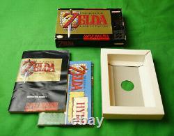Legend of Zelda Link to the Past Super Nintendo SNES 1992 Box & Manual