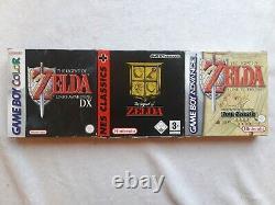 Legend of Zelda NINTENDO Link's Awakening DX GBA Game Boy LINK TO PAST NES RARE