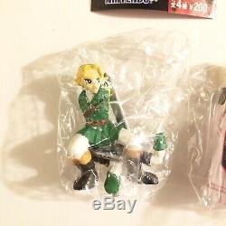 Legend of Zelda Ocarina of Time 4 Figure Set Link Zelda Stalfos Lizalfos Yujin