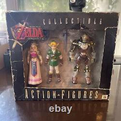 Legend of Zelda Ocarina of Time Action Figures Link, Zelda & Ganon NINTENDO N64