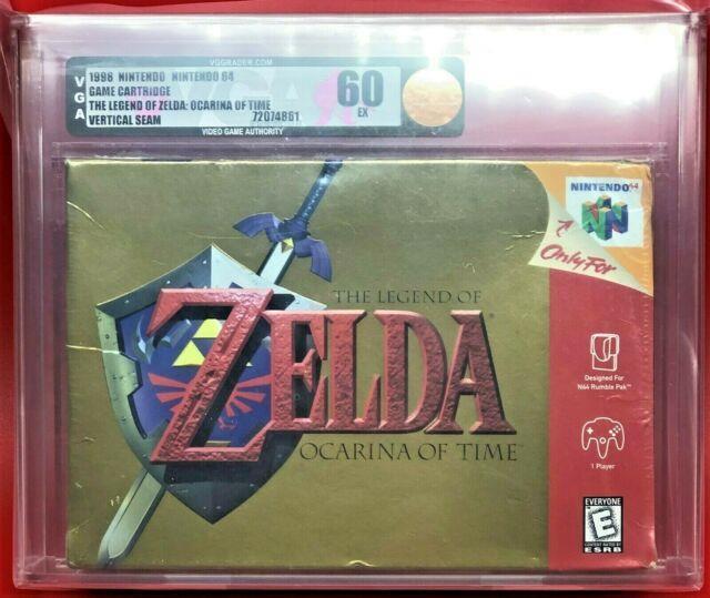 Legend Of Zelda Ocarina Of Time Link First Print Nintendo 64 N64 New Wata Vga 60