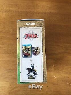 Legend of Zelda Twilight Princess HD + Wolf Link Amiibo Nintendo Wii U NEW