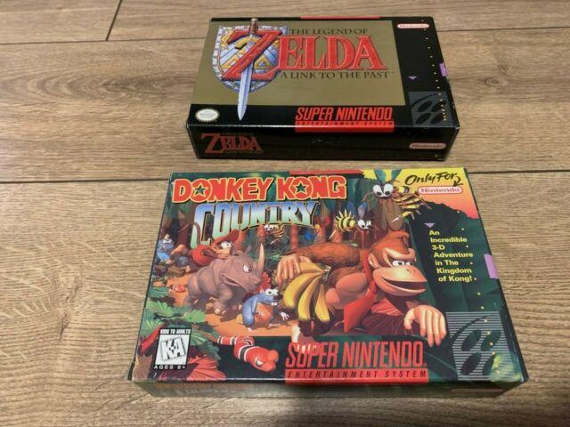 Legend Of Zelda A Link To The Past, Donkey Kong Country Super Nintendo Snes Cib