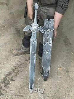 Legend of zelda links Master sword and Hylian sheild replica set solid steel