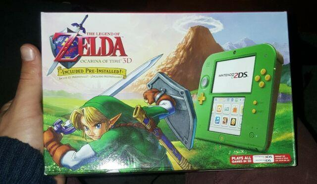 Limited Nintendo 2ds Link Edition With The Legend Of Zelda Ocarina Of Time 3d