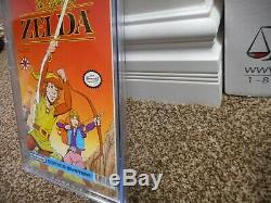 Link The Legend of Zelda 1 cgc 9.8 Valiant 1990 1st print MINT WHITE pg Nintendo