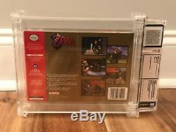 N64 Legend of Zelda Ocarina of Time WATA 7.5 A+ Sealed Classic Game Link Movie