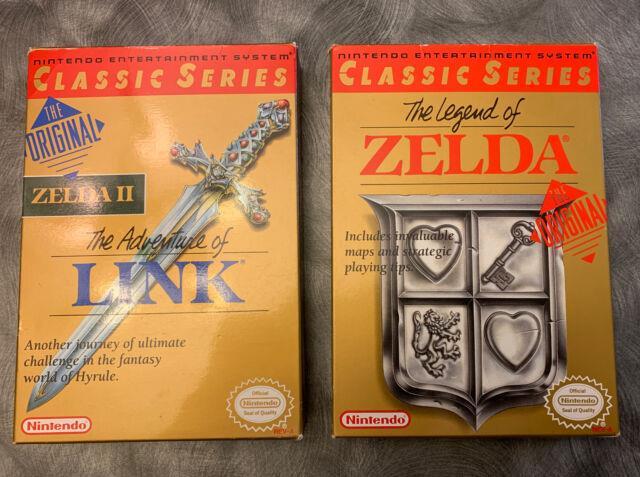 Near Mint Nintendo The Legend Of Zelda & Zelda Ii The Adventure Of Link Cib Nes
