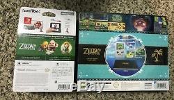 NEW Legend of Zelda Link's Awakening Limited Edition Switch Steelbook + Amiibo